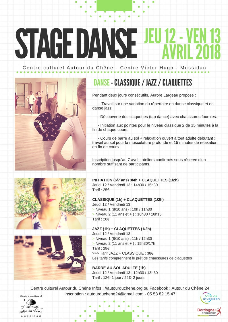 Stages artistiques avril 2018