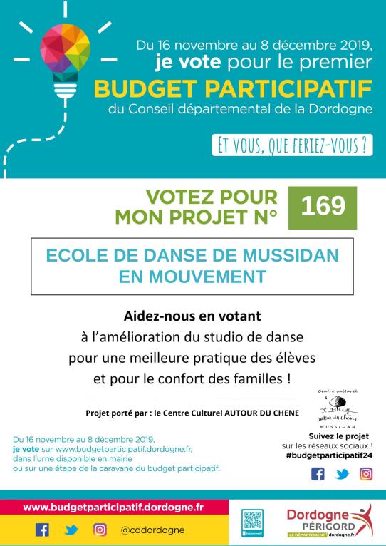 Budget participatif 2019_Affiche Autout du Chêne_Texte couleur